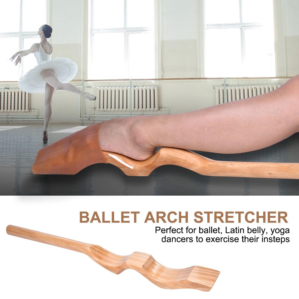 Ballet Foot Stretcher Wood Feet Arch Elastic Band Dance Gymn
